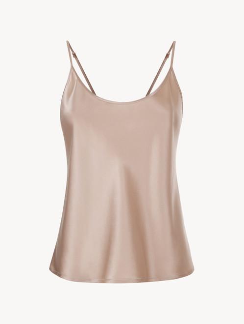 Dusty pink silk camisole