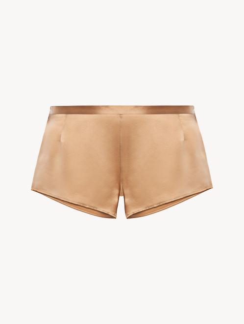 Caramel silk sleep shorts