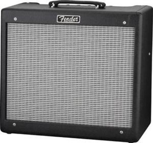 One of the most-beloved small combo amps in the world, the Fender Blues Junior IV adds modified preamp circuitry, smoother-sounding spring reverb and improved aesthetics that any player is sure to appreciate. A 15-watt favorite in any setting, this amp is ideal for guitarists who need to hit the stage or studio at a moment's notice with warm tone and versatile features.   The Blues Junior IV includes a 12 in. Celestion A-Type speaker for well-balanced output with smooth highs, laidback midrange and full, round lows. The modified preamp circuitry has increased fullness, with greater definition and clarity. The onboard spring reverb has been modified to add smoothness, so you still get rich, shimmering tone, no matter how much reverb you use.   The updated aesthetics include improved control panel texture and graphics, ivory pointer knobs, steel-reinforced strap handle and lightly-aged silver grille cloth, giving it the unmistakable look and vibe you can only get from a Fender amp. Reliable, flexible and pedal-friendly, the Blues Junior IV is an ideal addition to any electric guitarist's amp collection.