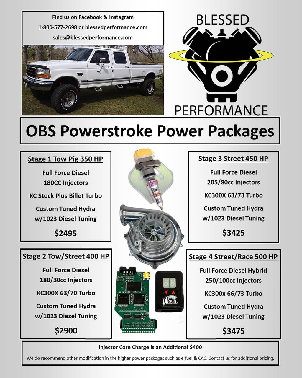 Blessed Performance Superduty 7.3 Powerstroke Packages