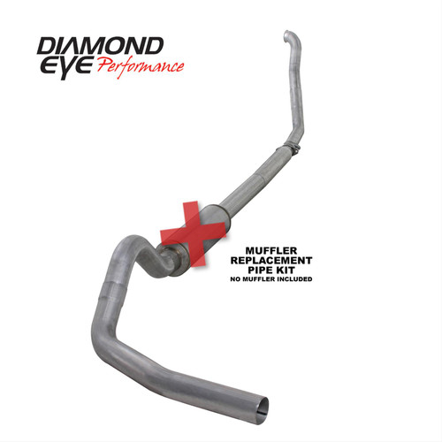 "Diamond Eye Performance Exhaust 4"" Aluminized No Muffler 1994-1997.5 7.3 Powerstroke"