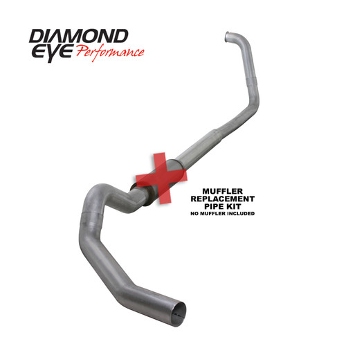 Diamond Eye 5 inch Aluminized Exhaust No Muffler 2003-2007 6.0 Powerstroke