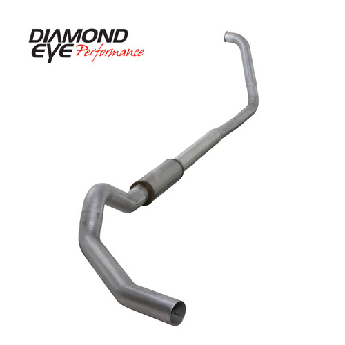 Diamond Eye 5 inch Aluminized Exhaust W/Muffler 2003-2007 6.0 Powerstroke