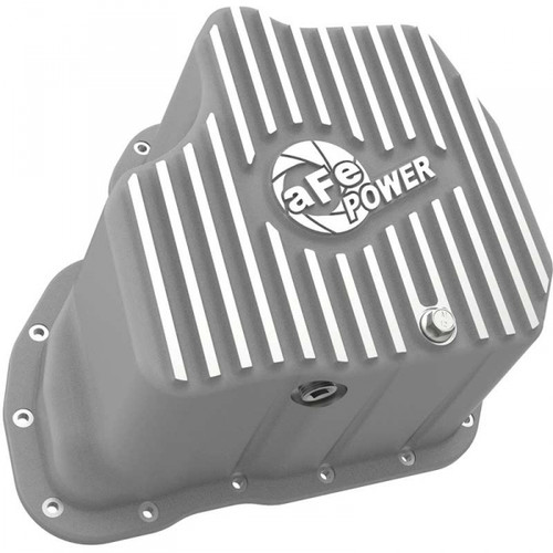 """AFE STREET SERIES EXTRA DEEP ENGINE OIL PAN 2001-2010 GM 6.6L DURAMAX (WITH 6"""" LIFT)"""