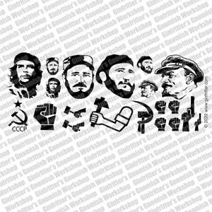 Soviet Revolution Graffiti - Black