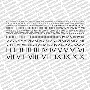 Ginfritter Roman Numeral I - X Decal