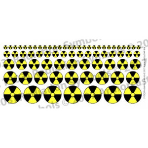 WARN005 Radiation Symbol in Black & Yellow