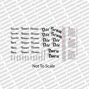 Gothic Scripts and Scrolls #2 Waterslide Decals