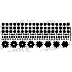 Cogs, Gears & Bolts Decal