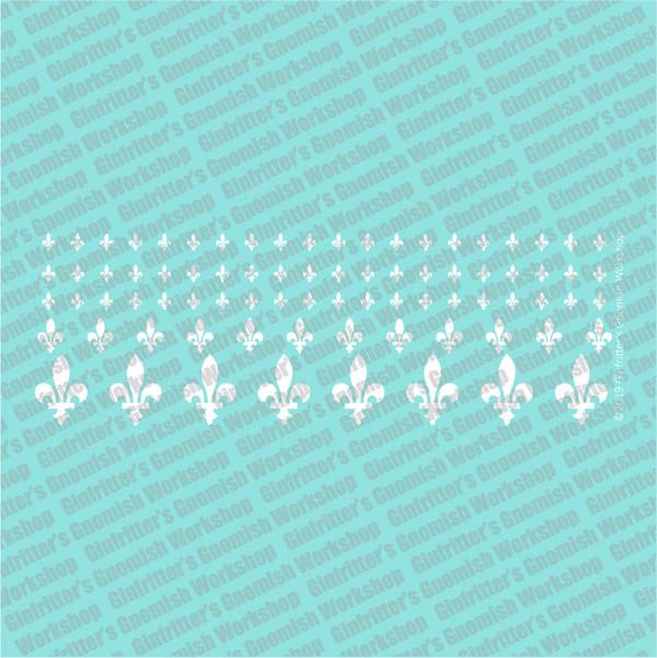 WARFLU015 Fleur-de-lis #3 white decal by Ginfritter