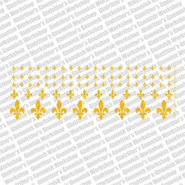 WARFLU014 Fleur-de-lis #3 gold decal by Ginfritter