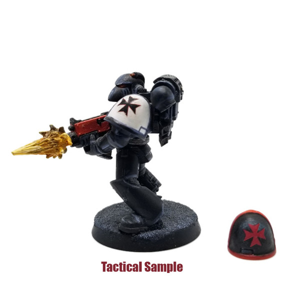 Sample of medium sized decal on Tactical Marine Shoulder Pads - Painted mini not included.