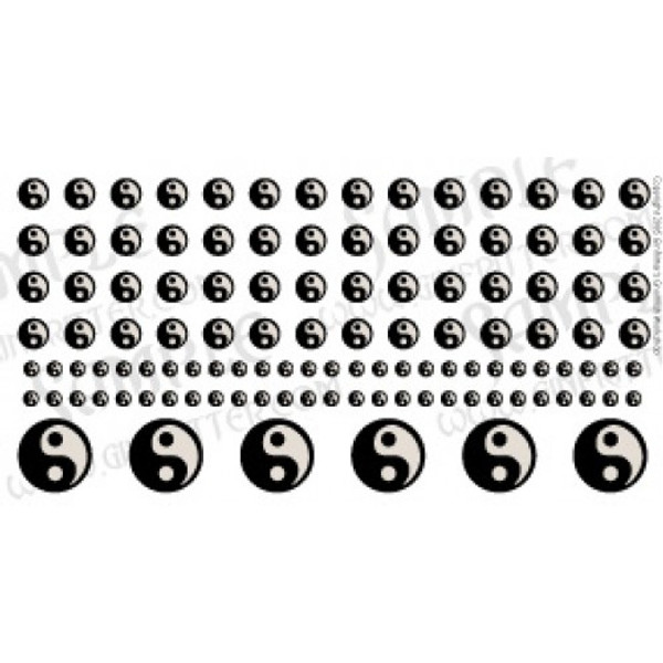 YING001 Yin & Yang Symbol in Black & White