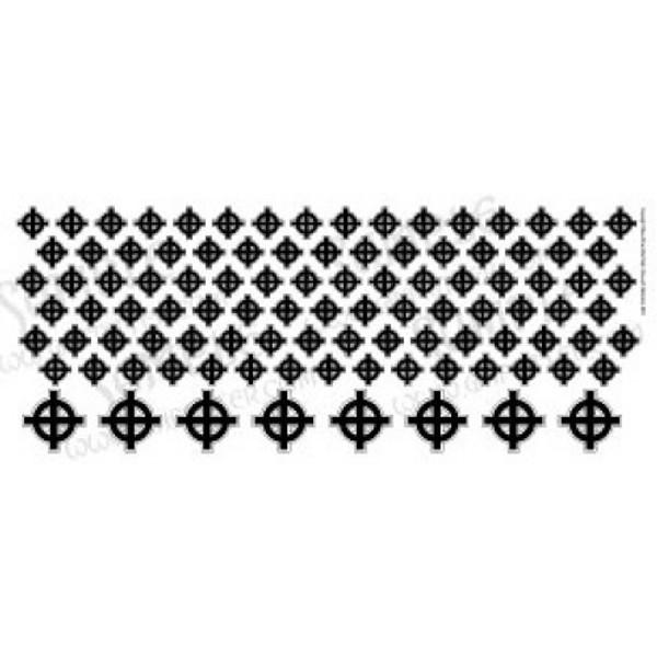 WARCRO005 Odin's Celtic/Nordic Cross in Black