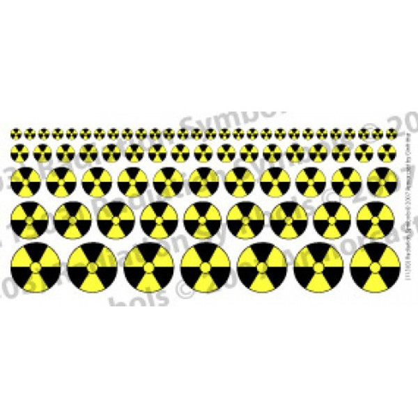 WARN005 Radiation Symbol in Black & Yellow