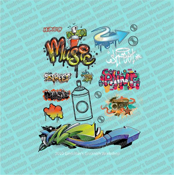 GRAFF002 Music, Bombs & Arrows Graffiti