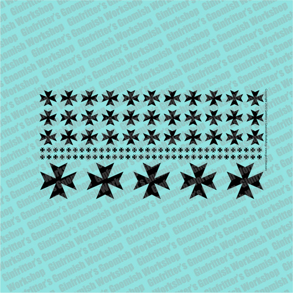 Iron Cross #2 Prime Scale Waterslide Decal