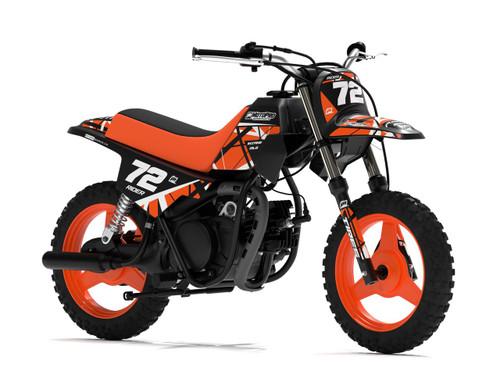 MotoPro Graphics Yamaha PW50 ERUPTION Orange Graphics