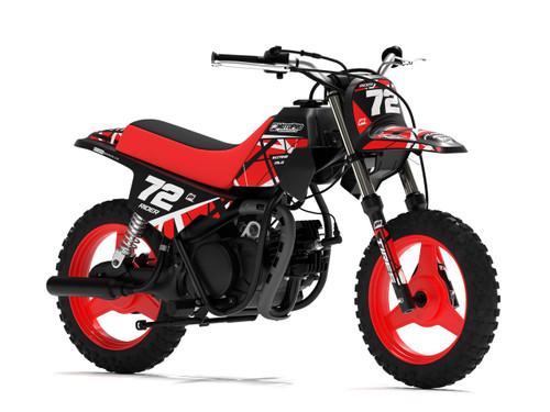 MotoPro Graphics Yamaha PW50 ERUPTION Red Graphics