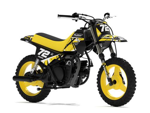 MotoPro Graphics Yamaha PW50 ERUPTION Yellow Graphics