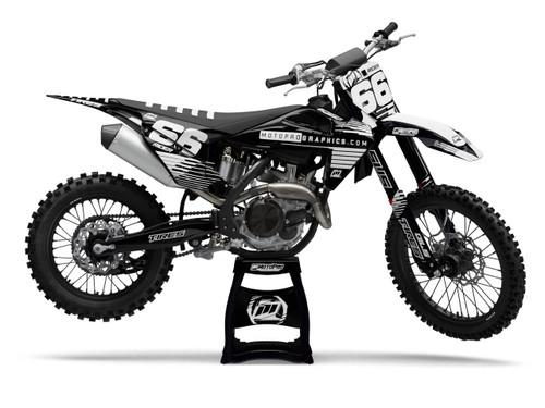 MotoPro Graphics Husqvarna Dirt Bike DART BLACK Graphics