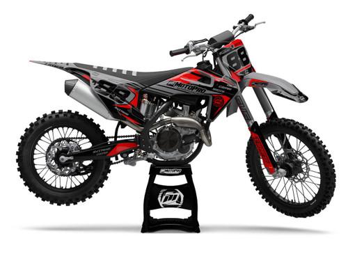 MotoPro Graphics Husqvarna Dirt Bike REVO BLACK Graphics