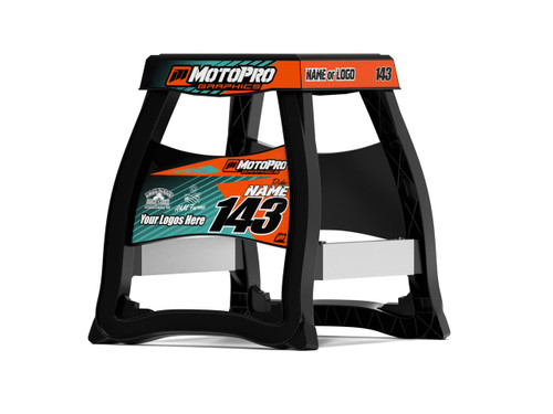 MotoPro Graphics Matrix M64 Stand Graphics - MATRIX Orange Teal Graphics stand not included