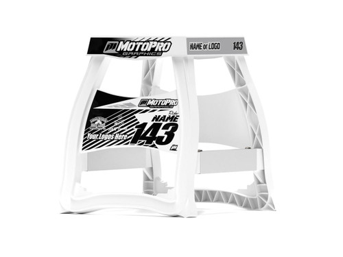 MotoPro Graphics Matrix M64 Stand Graphics - MATRIX White Graphics stand not included