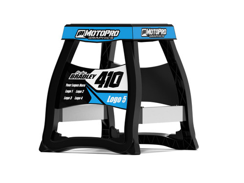MotoPro Graphics Matrix M64 Stand Graphics - Factory CYAN stand not included