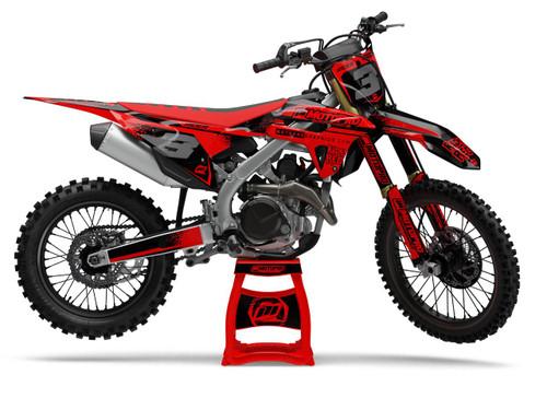 MotoPro Graphics Honda Dirt Bike RED FLOW Series Graphics