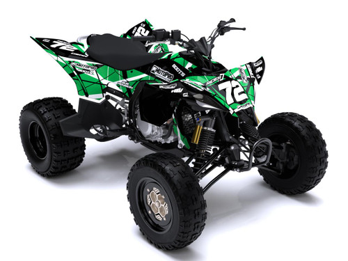 MotoPro Graphics Yamaha YFZ450 Quad ATV Full Graphics Set - ERUPTION GREEN