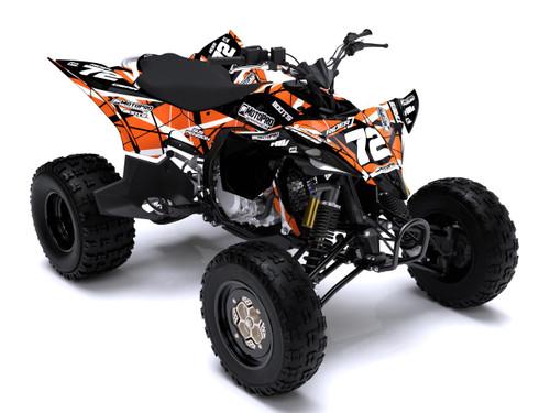 MotoPro Graphics Yamaha YFZ450 Quad ATV Full Graphics Set - ERUPTION ORANGE