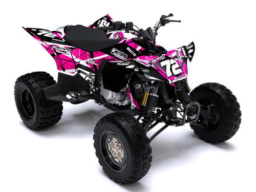 MotoPro Graphics Yamaha YFZ450 Quad ATV Full Graphics Set - ERUPTION PINK
