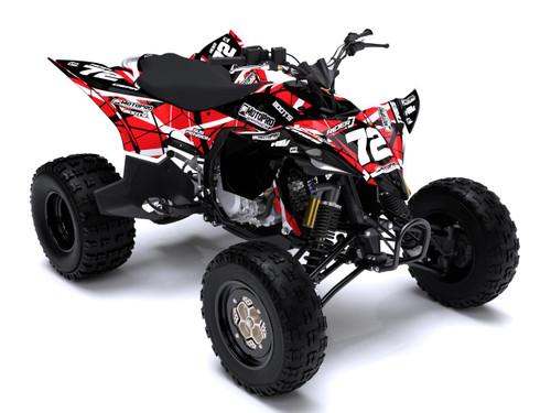 MotoPro Graphics Yamaha YFZ450 Quad ATV Full Graphics Set - ERUPTION RED