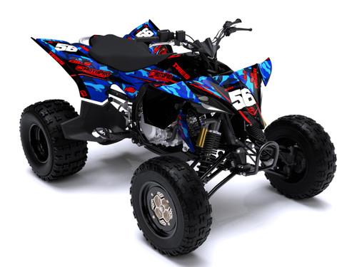 MotoPro Graphics Yamaha YFZ450 Quad ATV Full Graphics Set - PROTEST 2