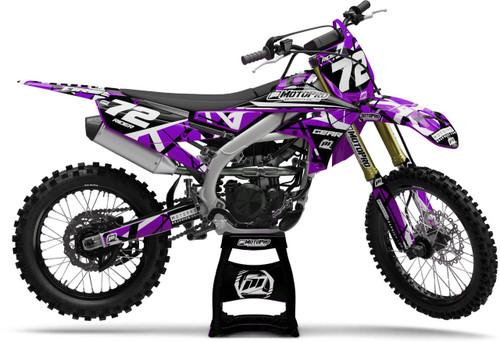 MotoPro Graphics Yamaha Dirt Bike ERUPTION Purple Series Graphics