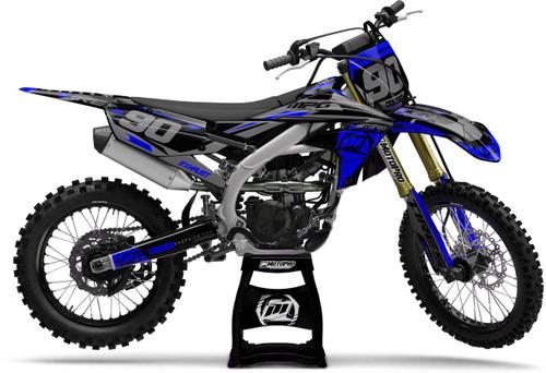 MotoPro Graphics Yamaha Dirt Bike Heet Blue Graphics