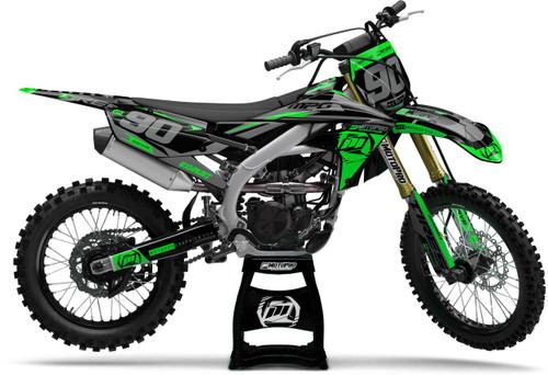MotoPro Graphics Yamaha Dirt Bike Heet Green Graphics