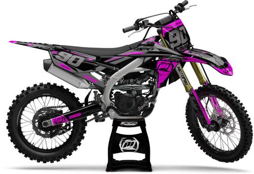 MotoPro Graphics Yamaha Dirt Bike Heet Pink Graphics