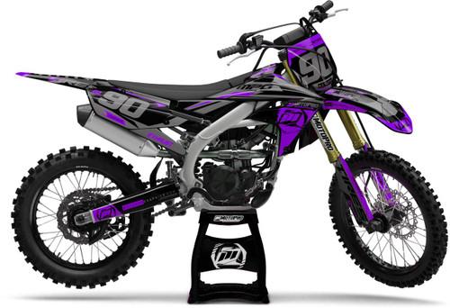 MotoPro Graphics Yamaha Dirt Bike Heet Purple Graphics