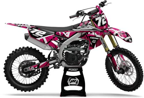 MotoPro Graphics Yamaha Dirt Bike ERUPTION Pink Series Graphics