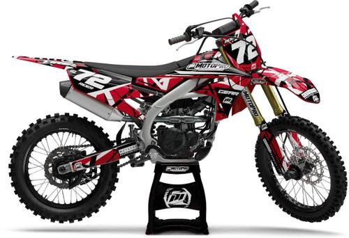 MotoPro Graphics Yamaha Dirt Bike ERUPTION Red Series Graphics