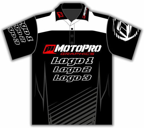 MotoPro Racing Customizable Pit Shirt - Clean Lines White