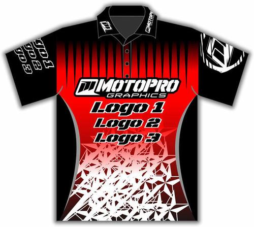 MotoPro Racing Customizable Pit Shirt - Red Stars