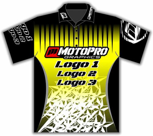 MotoPro Racing Customizable Pit Shirt - Yellow Stars