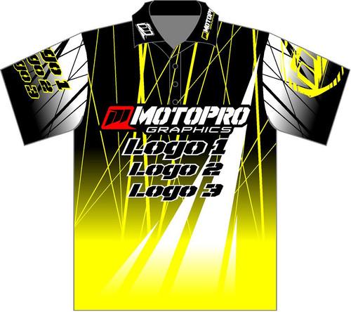 MotoPro Racing Customizable Pit Shirt - Yellow Electro