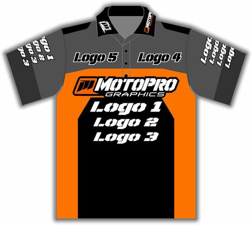 MotoPro Racing Customizable Pit Shirt - Blocker Orange