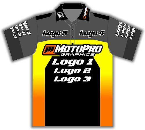MotoPro Racing Customizable Pit Shirt - Blocker Sunburst