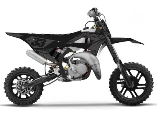 MotoPro Graphics Cobra Dirt Bike ONYX Stealth Graphics Set