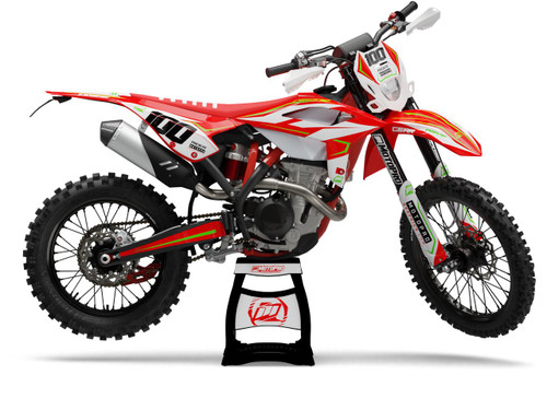 MotoPro Graphics BETA Dirt Bike MAGNETIC RED Series Graphics Set